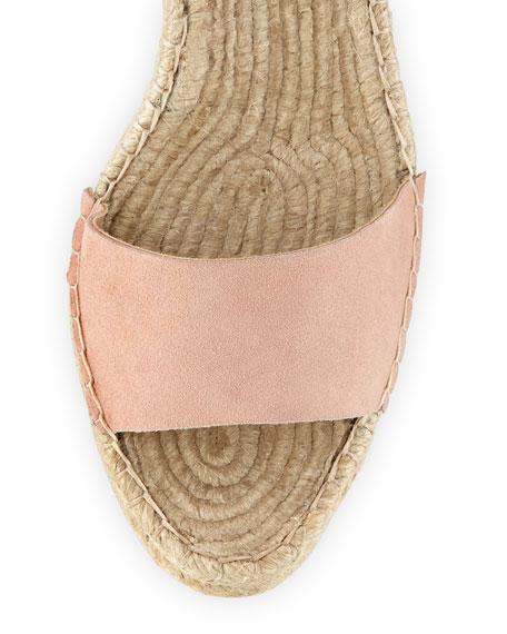 Harper Ankle-Wrap Wedge Espadrille Sandal, Blush