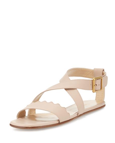 Chloé Scalloped flat sandals mysGle7