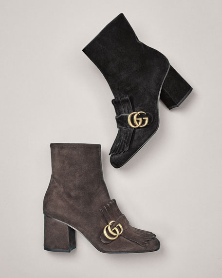 Marmont Suede 75mm Ankle Boot
