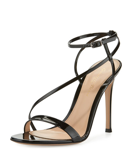Image 1 of 3: Carlyle Patent Strappy 105mm Sandal, Black
