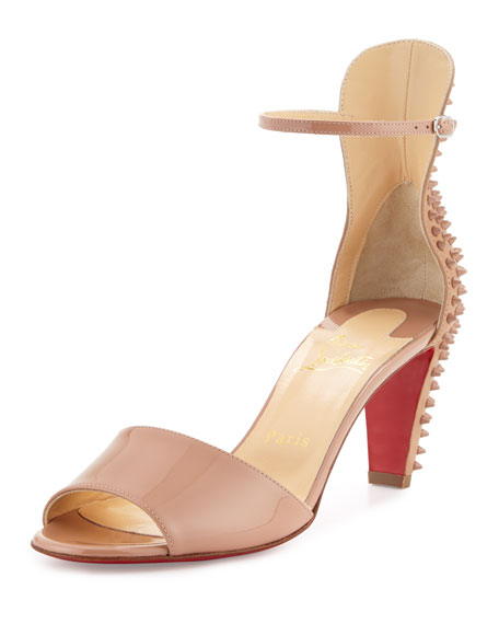 cl shoes replica - Christian Louboutin Cataclou Flatform Sandal, Stone