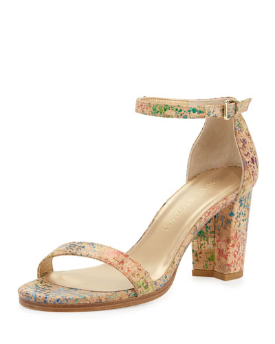 Nearlynude Printed Cork City Sandal, Confetti