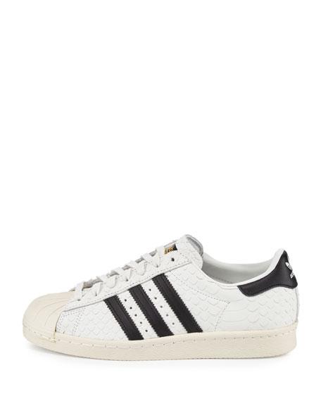 Superstar '80s Classic Snake-Cut Sneaker, White/Black