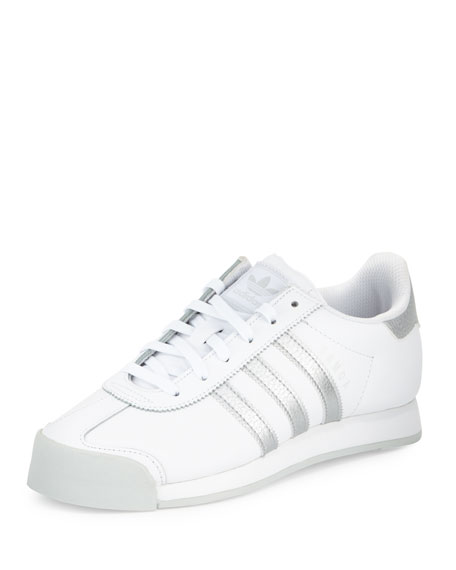 Samoa Original Leather Sneaker, White/Silver