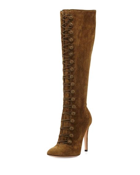 Suede 105mm Knee Boot, Marais