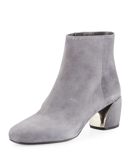 Prada Suede 55mm Ankle Boot