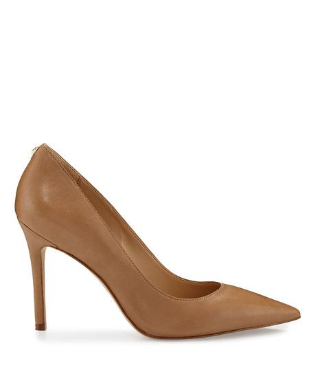 Sam Edelman Hazel Pointed-Toe Leather Pump, Golden Caramel
