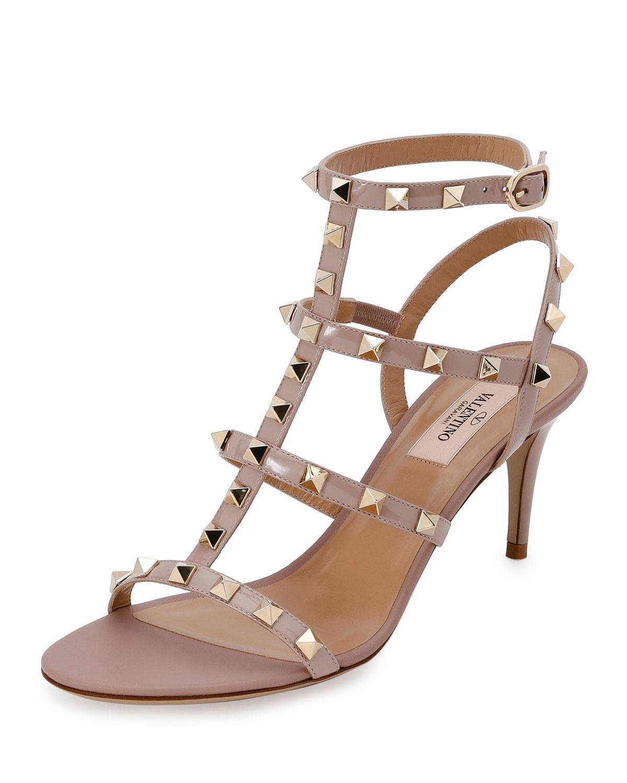 40173a5d89fc Valentino Garavani Rockstud Patent 70mm Sandals