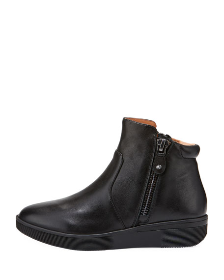 Harper Leather High-Top Sneaker, Black