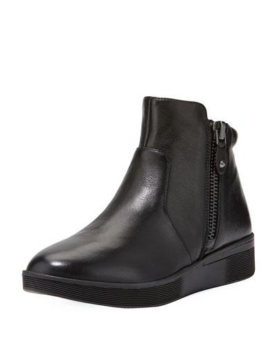 Harper Leather High-Top Sneaker, Black