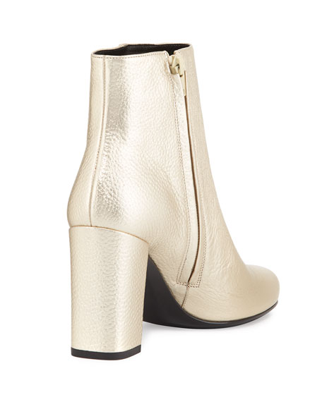 Babies Metallic 90mm Ankle Boot, Platino