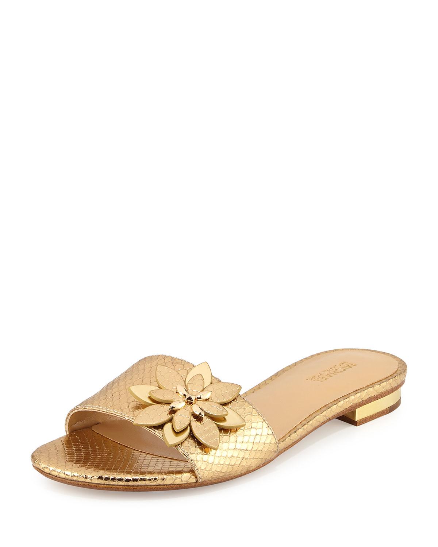 1f5b57611b0b MICHAEL Michael Kors Heidi Floral Flat Slide Sandal