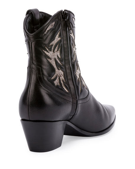 Rock Snake-Inset 40mm Western Boot, Roccia/Nero