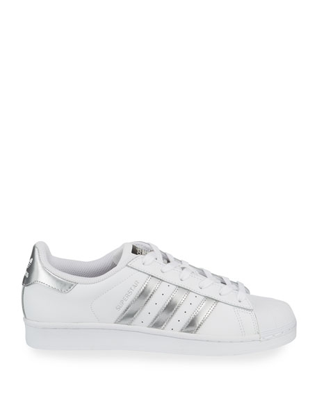 Superstar Original Fashion Sneaker, White/Silver