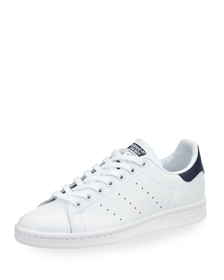 Adidas Stan Smith Fashion Sneaker, White/Collegiate Navy