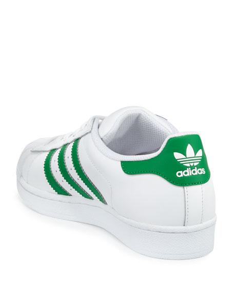 Superstar Original Fashion Sneaker, White/Green