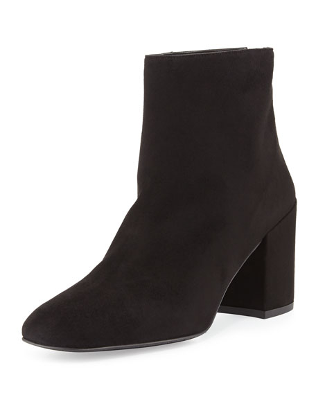 Bacari Suede Chunky-Heel Bootie, Rose