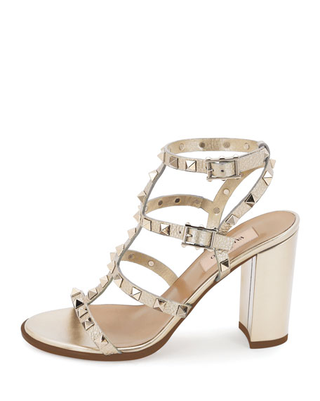 Rockstud Leather 90mm City Sandals
