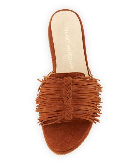 Wiggleroom Fringe Platform Sandal