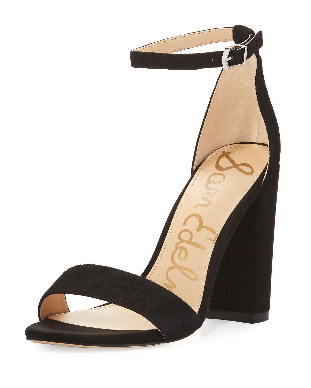 60c6faa20 Sam Edelman Yaro Suede Block-Heel Sandals