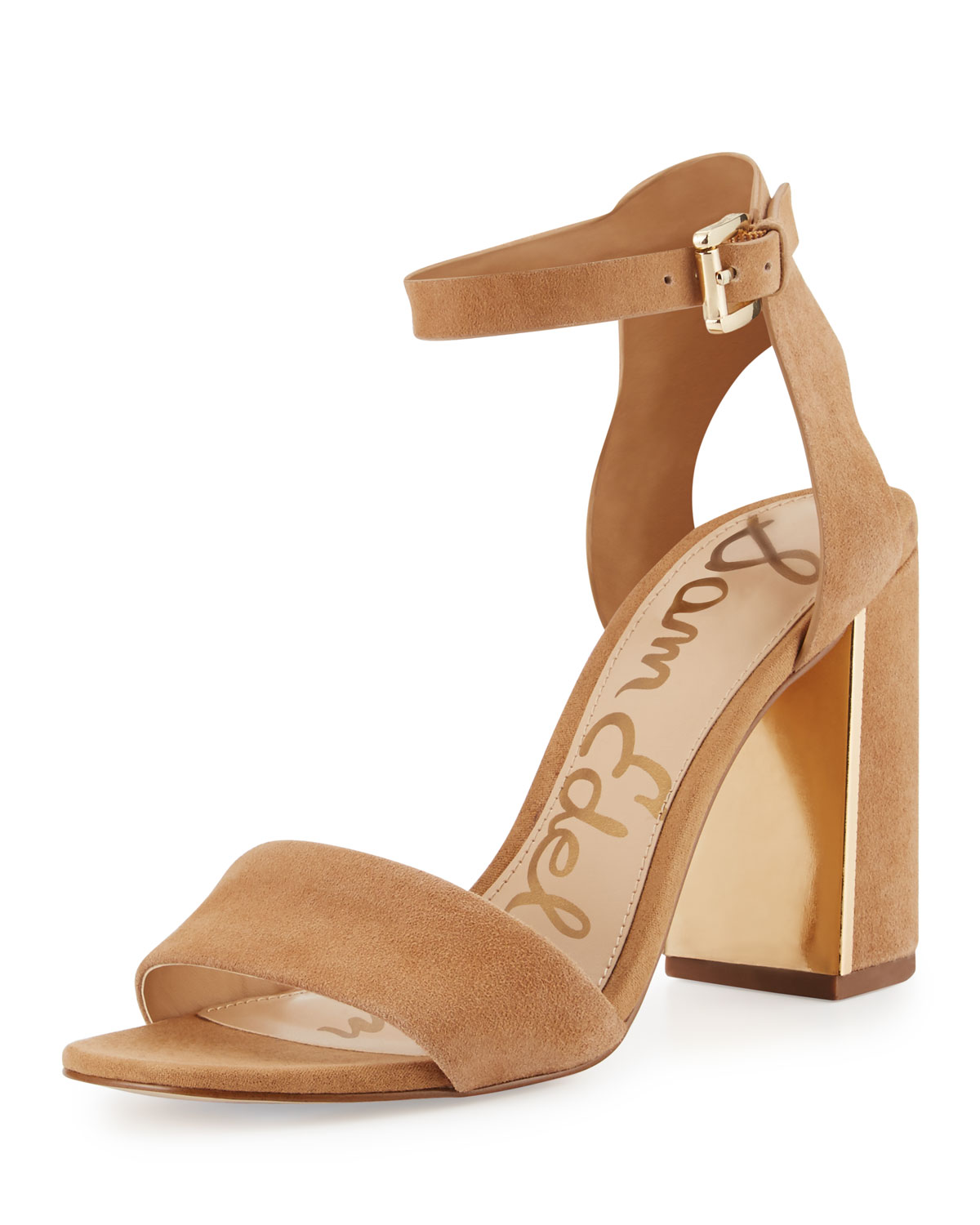 0c05ccd4be08 Sam EdelmanSynthia Suede Chunky-Heel Sandal. Free Shipping ...