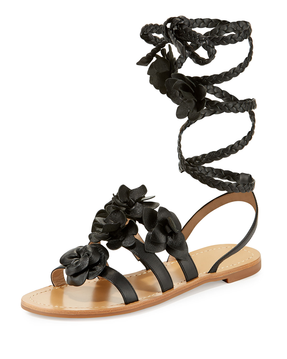 49143be2be6 Tory Burch Blossom Leather Gladiator Sandal
