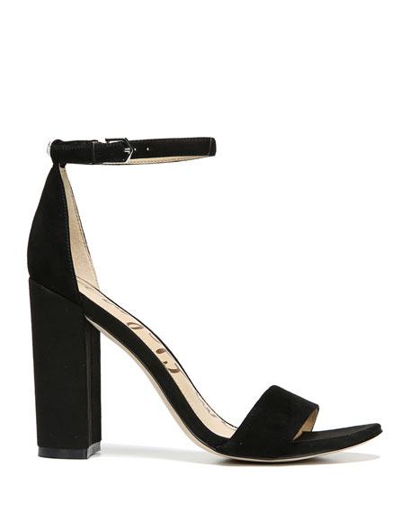 Sam Edelman Yaro Suede Block-Heel Sandals