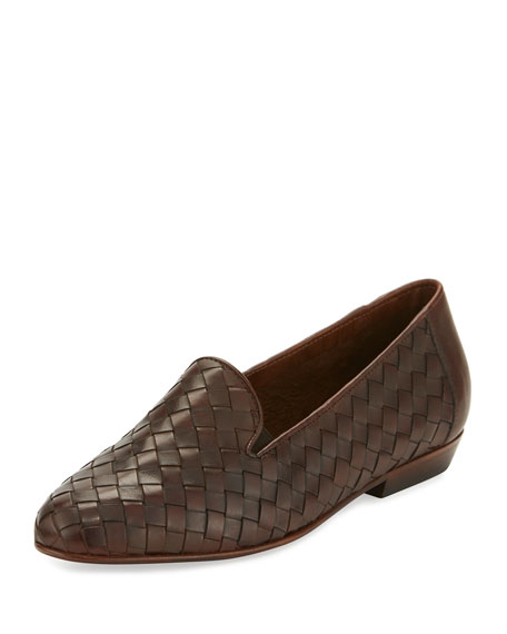 Sesto Meucci Nader Woven Leather Loafer, Tan