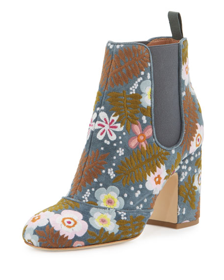 Laurence Dacade Mia Boheme Embroidered 85mm Chelsea Boot,