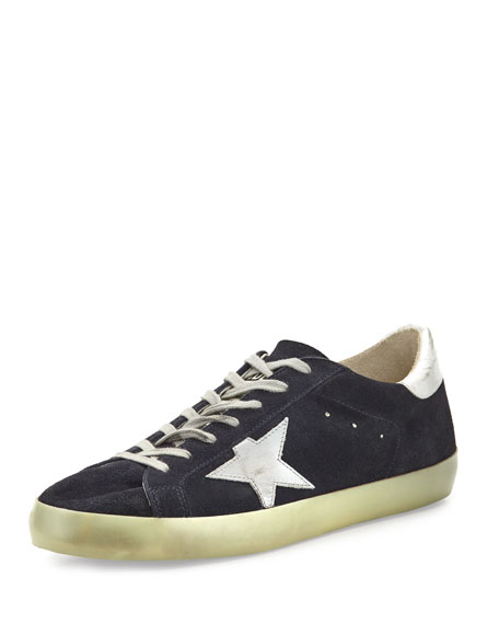 Superstar Suede Low-Top Sneaker, Blue/Silver