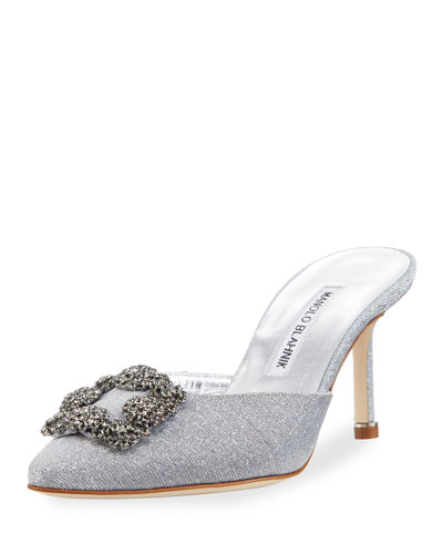 Hangisi Metallic Cotton Mule Pump