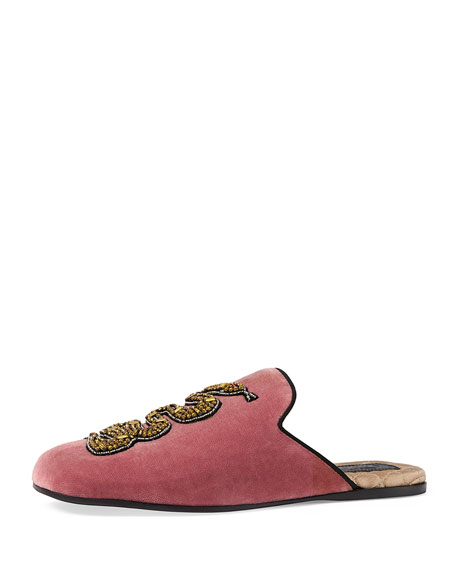 Lawrence Crystal Snake Mule, Red