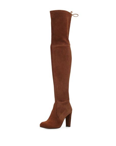 Highland Suede Over-The-Knee Boot, Walnut