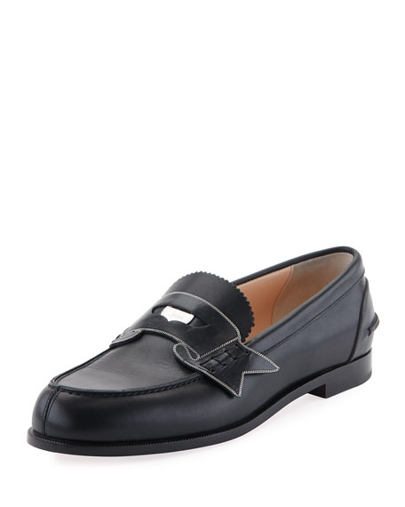 Christian Louboutin Monana Patent Flat Loafer, Black