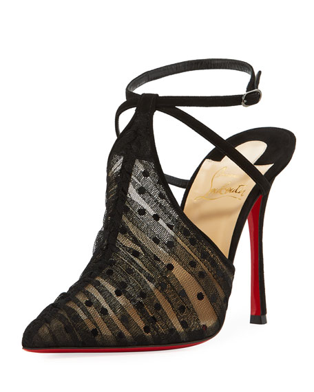 Christian Louboutin Acide Lace Tulle Red Sole Pump,