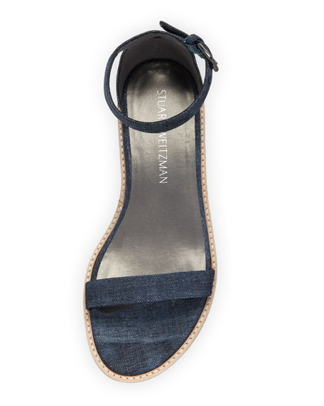 Nudistflat Denim Ankle-Wrap Sandal