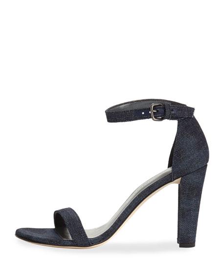Walkway Denim Ankle-Wrap Sandal