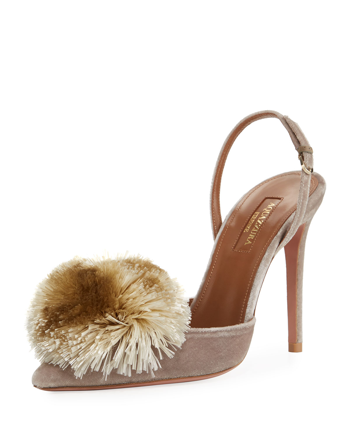 41e56731ff Aquazzura Powder Puff Slingback 105mm Pump | Neiman Marcus