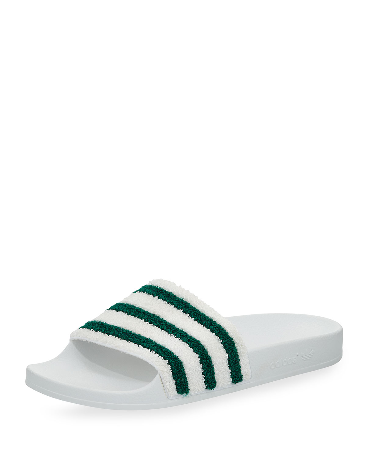 sneakers for cheap 4e084 5e842 AdidasAdilette Striped Slide Sandal, WhiteGreen