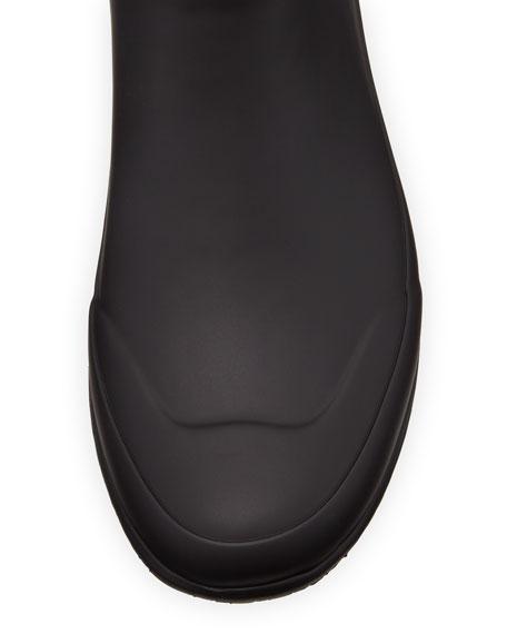 Burberry Simeon Check-Print Rain Boot, Black