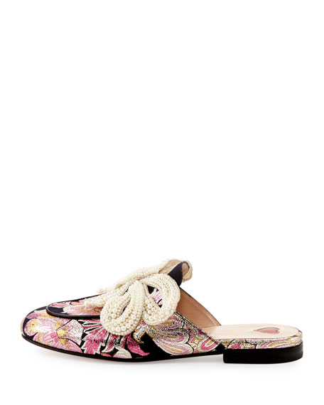 PRINCETOWN EMBELLISHED BROCADE SLIPPERS