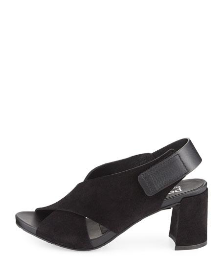 Wara Suede Chunky-Heel Sandal