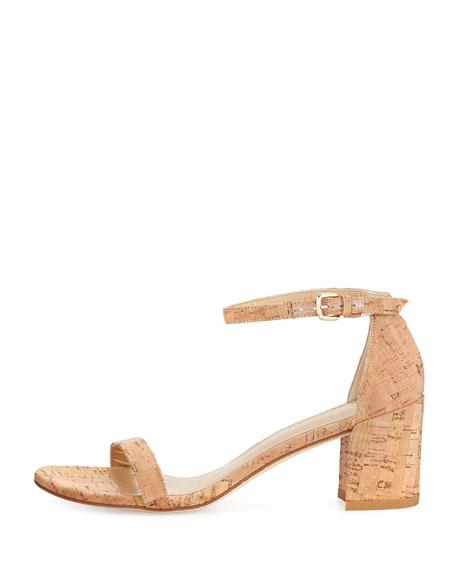 Simple Cork Low City Sandal, Neutral