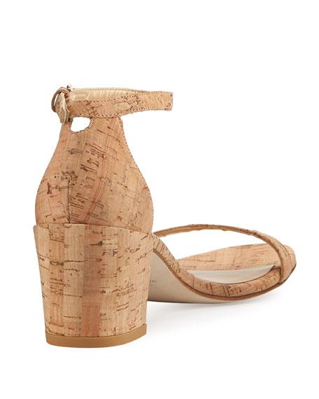Simple Cork Low City Sandals, Neutral