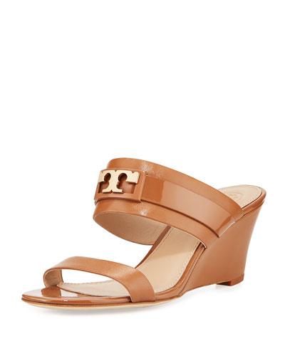 Gigi Leather Two-Band Slide Sandal