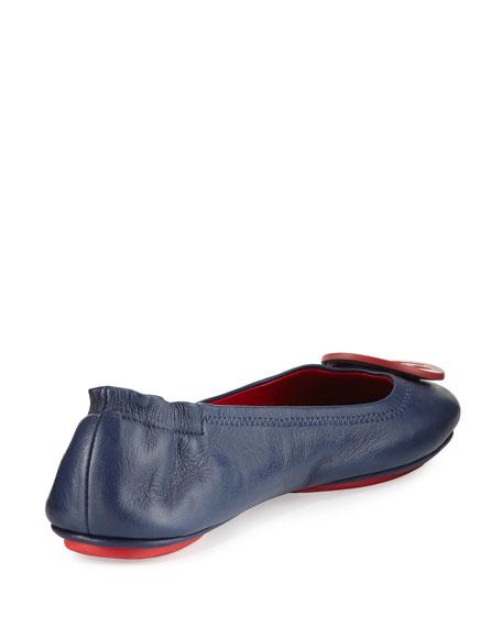 Minnie Travel Ballerina Flat, Red/Blue