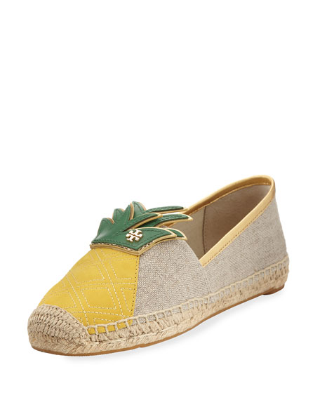 Castaway Canvas Flat Espadrille, Neutral