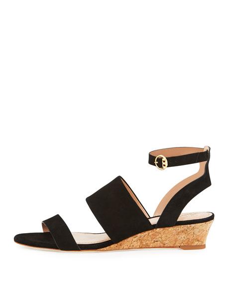 North Suede Low-Wedge Sandal