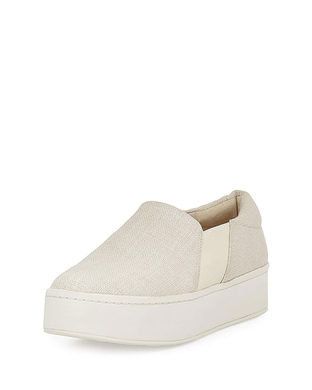 Vince Warren Woven Platform Sneaker