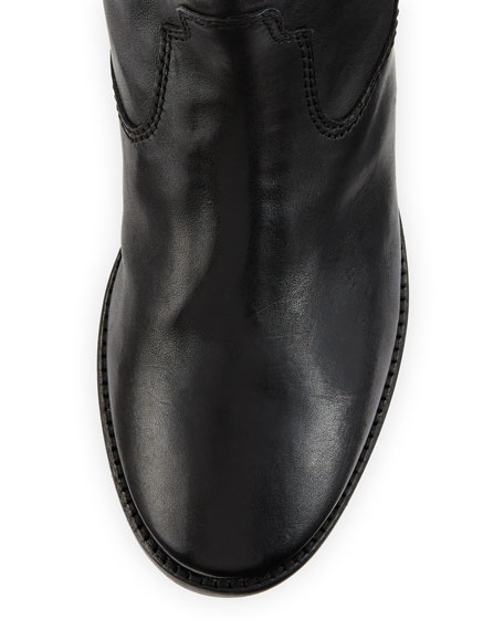 Cluster Hidden-Wedge Western Boots, Black